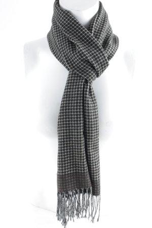 Moda Di Centone Casual Bufanda de lana estampado de pata de gallo look «Brit»