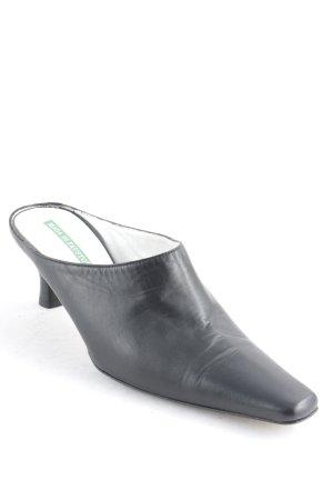Moda Di Fausto Absatz Pantoletten schwarz klassischer Stil