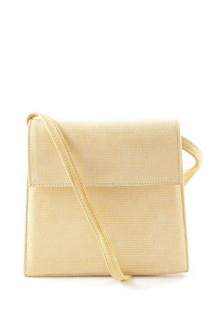 Moda Di Fausto Borsa a spalla giallo pallido-bianco motivo a quadri