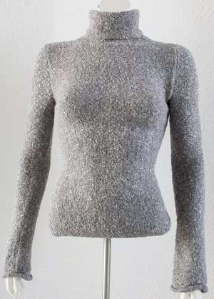 Victoria's Secret Jersey de cuello alto color plata-gris