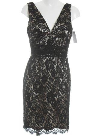 Moda International Spitzenkleid schwarz-creme Elegant