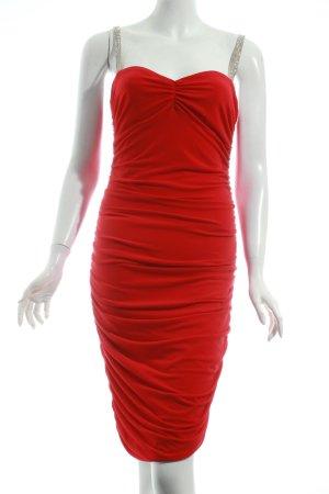 Moda International Stretchkleid rot Elegant