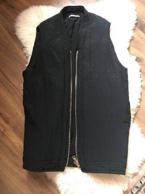 Lanvin Quilted Gilet black silk