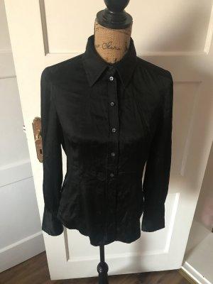 Hugo Boss Blouse Collar black silk