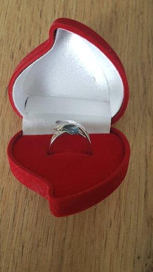 Statement ring zilver-azuur
