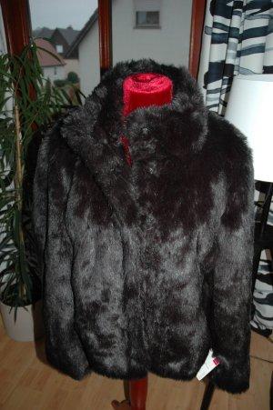 Mode Schwarze Pelzjacke *NEU* GR 44