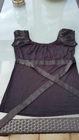 Modee Bluse ärmellos, schwarz in Größe 38