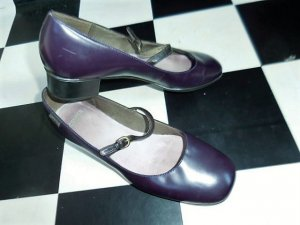 Camper Scarpa Mary Jane marrone-viola Pelle