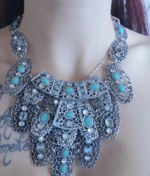 Zara Necklace silver-colored