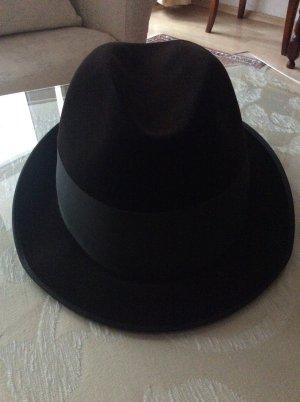 Cappello in feltro nero-verde scuro