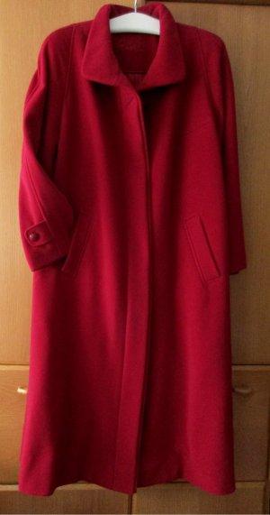 modena Bellandi - Italienischer Wintermantel Damenmantel Wolle/Cashmere dunkelrot, Gr. 48