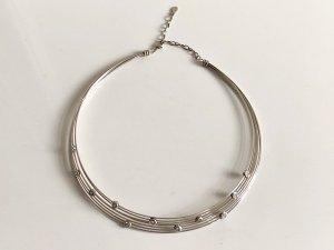 Modern Art 925 Silber Collier Edelsteine facettierte Kristalle Juwelierstück Meisterpunze