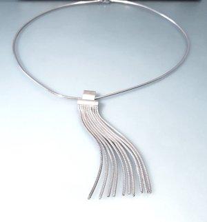 Modern Art Collier Sterling Silber 925 mit Fransen Anhänger