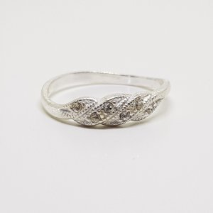 Modern Art Design Ring 925 Sterling Silberring Edel steine Kristalle Luxus look Retro Schmuck