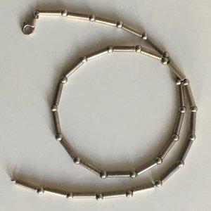 Modern Art Sterling ♛925er Silber Gliederkette (Stäbe & Perlen auf Silberdraht) Collier Echtsilber