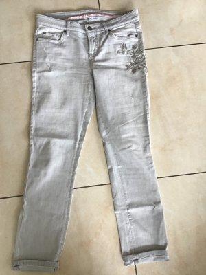 Cambio Jeans Jeans a 7/8 argento-grigio chiaro Cotone