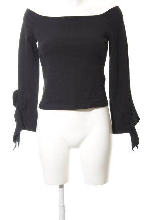 Modern Woman Carmen shirt zwart casual uitstraling