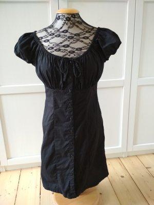 Modern Woman Kleid schwarz Gr. 38 romantisch verspielt Carmen-Ausschnitt Puffärmel