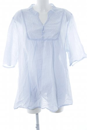 Modern Woman Langarm-Bluse himmelblau-weiß Streifenmuster Casual-Look