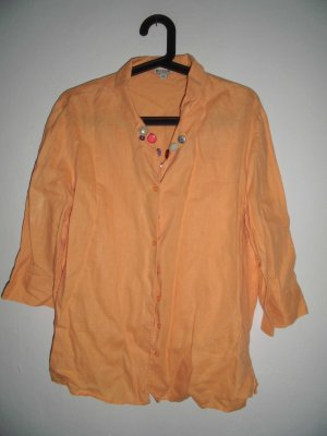 Brookshire Linen Blouse gold orange-light orange linen
