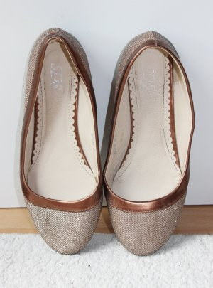 Foldable Ballet Flats gold-colored