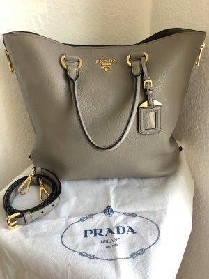 Prada Shopper silver-colored leather