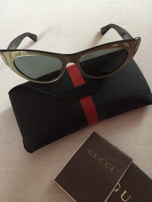 Gucci Zonnebril zwart-taupe