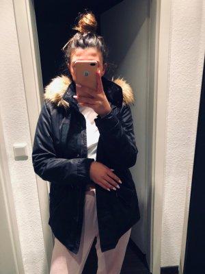 H&M Parka zwart-beige