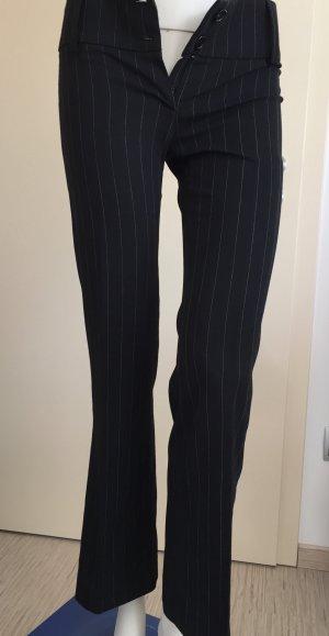 Tessuto Broek met wijd uitlopende pijpen zwart-wit