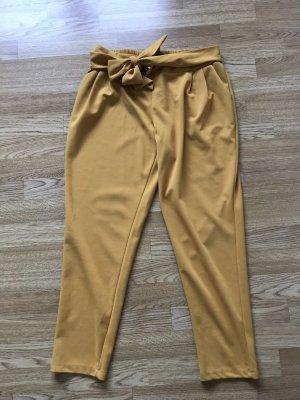 Pantalone fitness giallo-oro