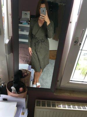 moderne khaki Mantel Jacke länger mit Gürtel