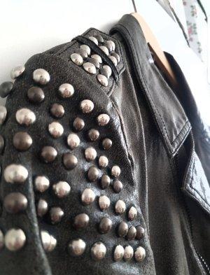 Moderne kurze Grau Jacke