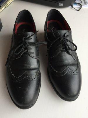 Moderne Oxford Schuhe für Damen in schwarz