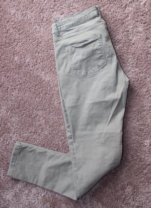 Pantalón de tubo beige-gris verdoso