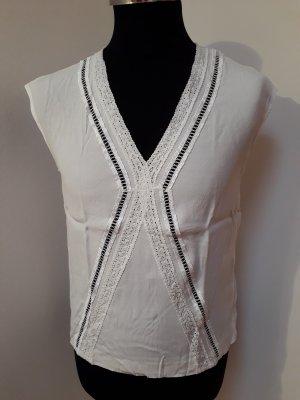 Marc Aurel Mouwloze blouse wit