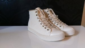 moderne Sneaker (weiß/gold)