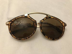 Moderne Sonnenbrille mit Leopardengestell, Gold