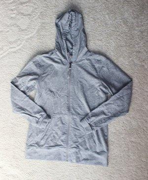 Moderne Sweatshirtjacke in grau