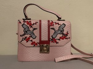 Crossbody bag multicolored leather