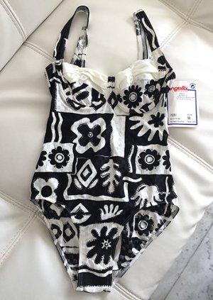 Moderner Badeanzug von HENGELLA, NEU mit Etikett, schwarz weiß