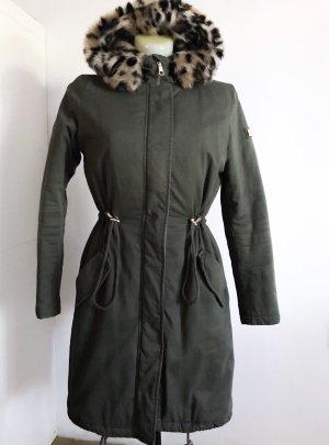 Tom Tailor Manteau à capuche gris vert-kaki