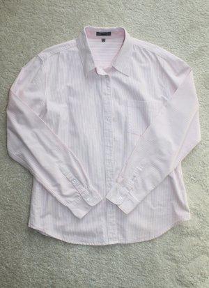 Modernes Hemd in rosa weiß gestreift