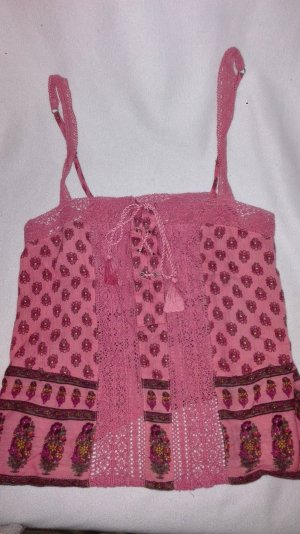 Hollister Haut en crochet rose fluo