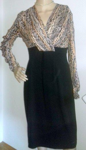 Modernes Kleid im Animal Print Muster- Barbara Schwarzer - elegant und knitterfrei