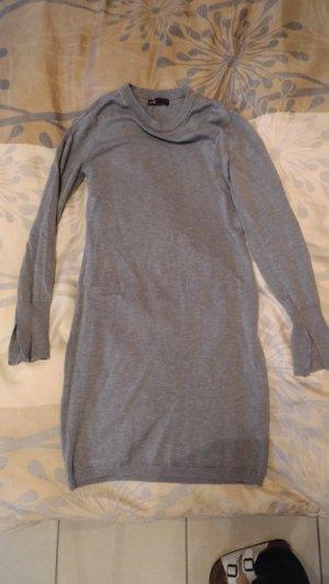 Sweaterjurk lichtgrijs-grijs