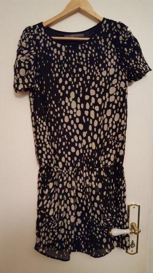 Modernes Kleid - schwarz/weiss - Zara