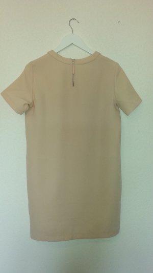 Modernes Kleid von MANGO zartrosa Schmeichelfarbe schlichter Schnitt Gr. M