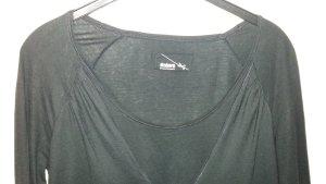 Drykorn Boothalsshirt zwart Katoen