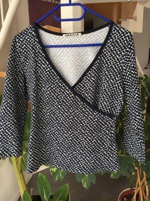 Modernes VANILIA Damen Top Oberteil blau-weiß gemustert in Gr.38 *neuwertig*