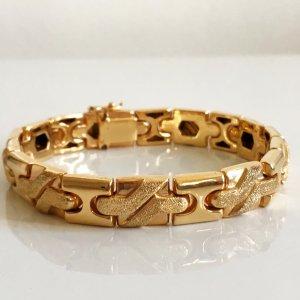 Modernist Modern Art Sterling 925 Silber Armband vg Gold Luxus Vintage